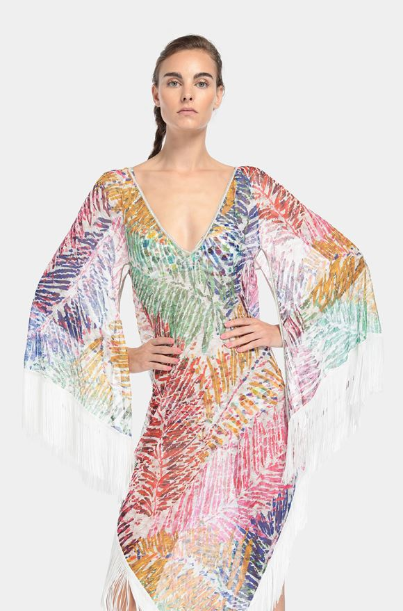 MISSONI Langes Strandkleid Dame, Detail
