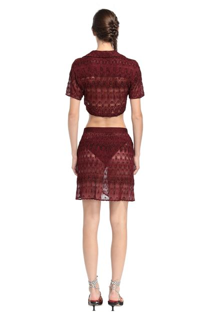 MISSONI MARE Beachwear skirt Maroon Woman - Front