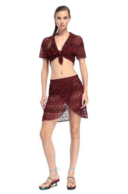 MISSONI MARE Beachwear skirt Maroon Woman - Back