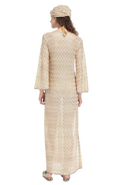 MISSONI MARE Длинное пляжное платье Песочный Для Женщин - Передняя сторона