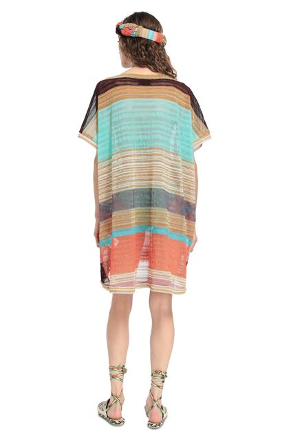 MISSONI MARE Short Beach Dress Gold Woman - Front