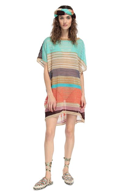 MISSONI MARE Short Beach Dress Gold Woman - Back