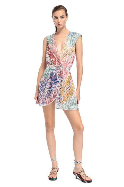 MISSONI MARE Короткое пляжное платье Фуксия Для Женщин - Обратная сторона