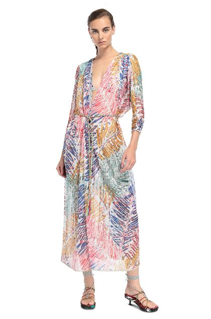 MISSONI MARE Длинное пляжное платье Белый Для Женщин - Обратная сторона