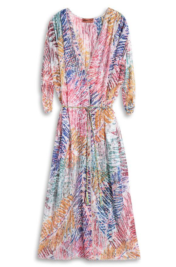 MISSONI Langes Strandkleid Dame, Ansicht ohne Model