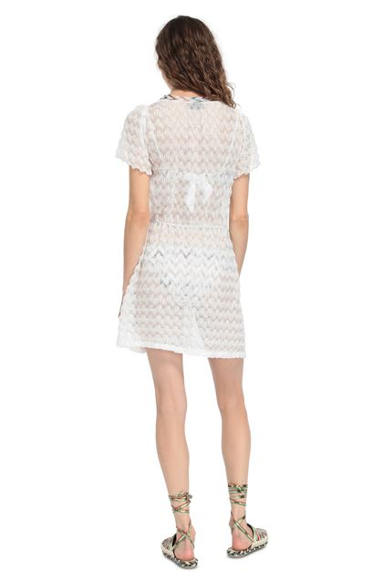 MISSONI MARE Short Beach Dress White Woman - Front