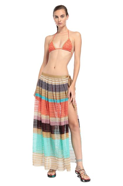 MISSONI MARE Beachwear skirt Gold Woman - Back