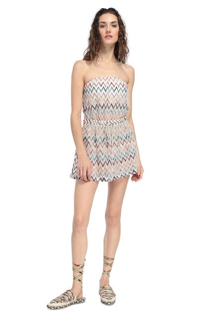 MISSONI MARE Beach Jumpsuit White Woman - Back