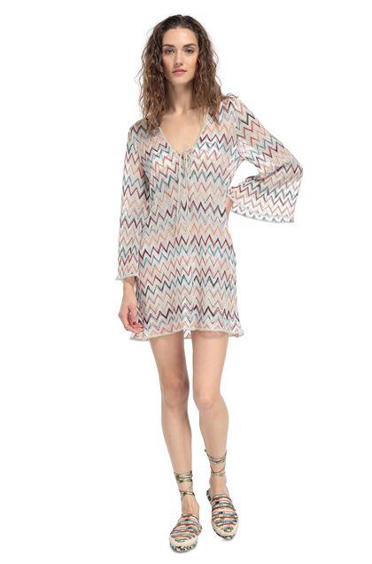 MISSONI MARE Короткое пляжное платье Белый Для Женщин - Обратная сторона