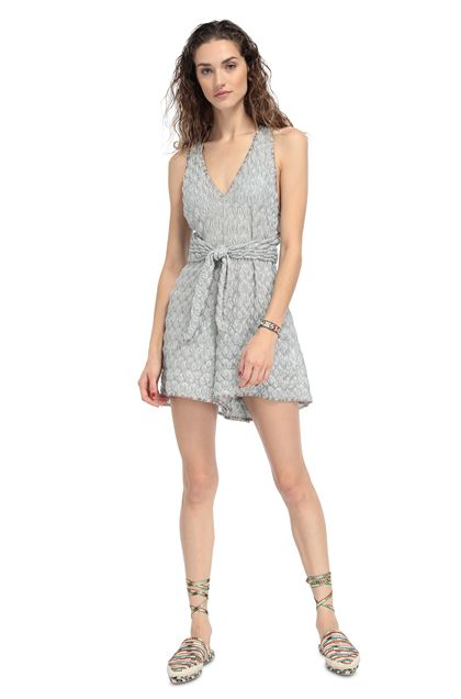 MISSONI MARE Beach Jumpsuit Light grey Woman - Back
