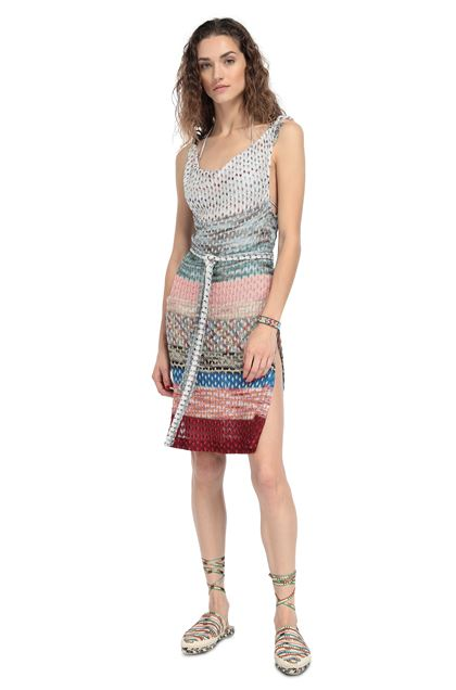 MISSONI MARE Short Beach Dress Salmon pink Woman - Back