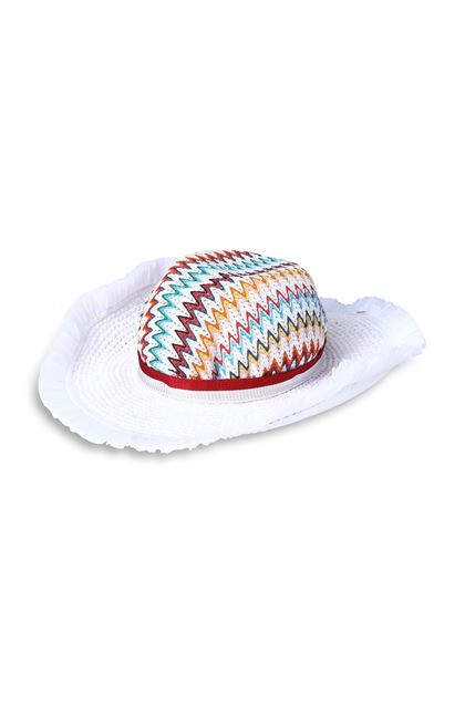 MISSONI MARE Beach Hat White Woman - Back