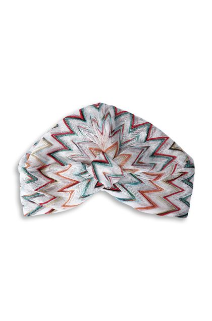 MISSONI MARE Beachwear turban White Woman - Back