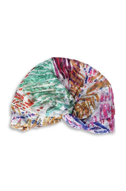 MISSONI MARE Beachwear turban Fuchsia Woman - Back