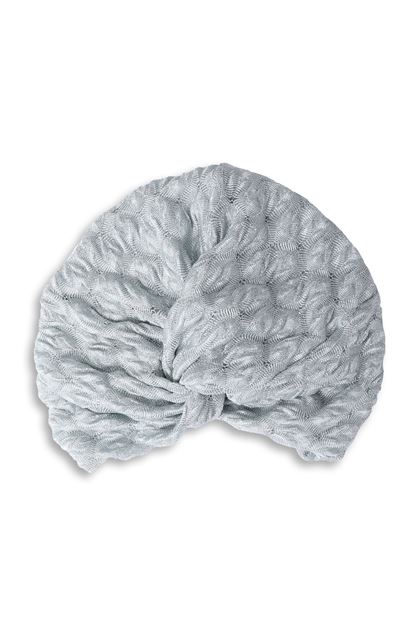 MISSONI MARE Beachwear turban Light grey Woman - Back