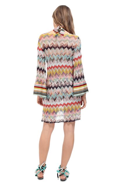 MISSONI MARE Short Beach Dress Pink Woman - Front