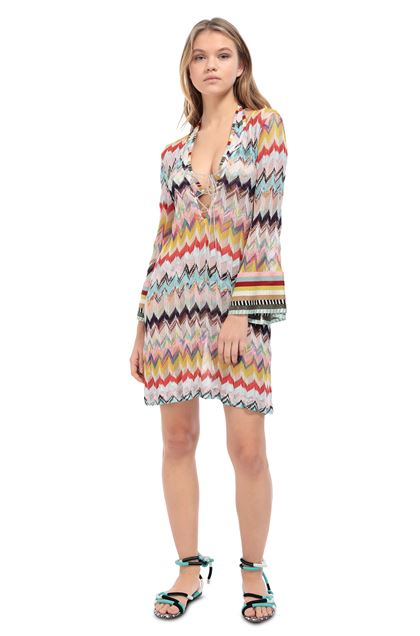 MISSONI MARE Short Beach Dress Pink Woman - Back