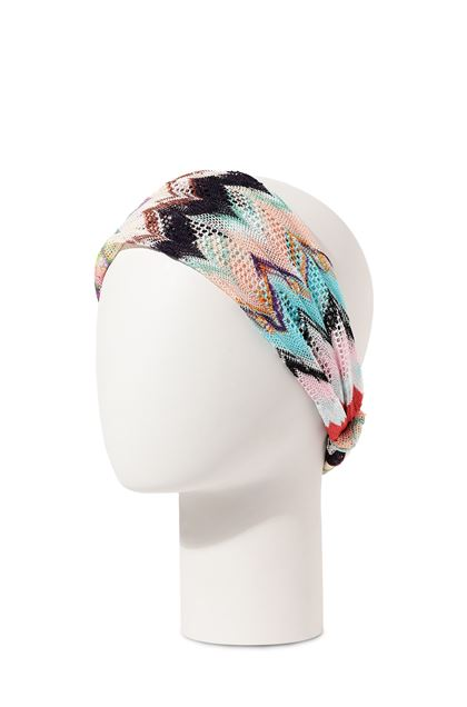 MISSONI MARE Beachwear head band Pink Woman - Front