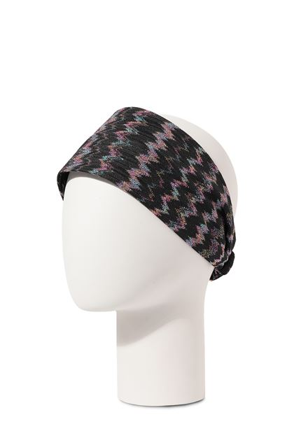 MISSONI MARE Beachwear head band Black Woman - Front