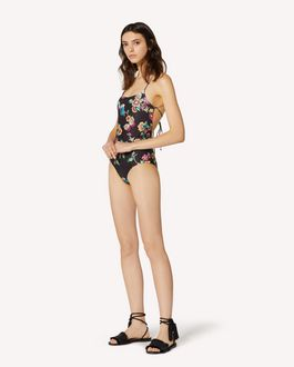 REDValentino Bikini with Bird of Paradise in the Forest print