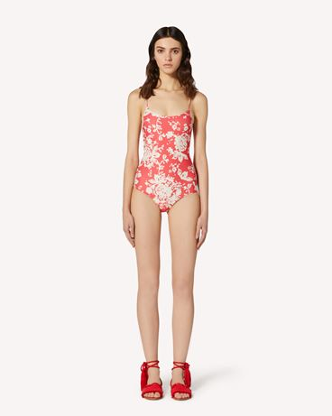 REDValentino Graphic Flora printed swimsuit