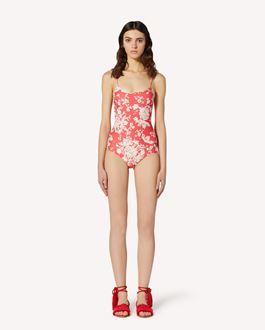 REDValentino Graphic Flora printed swimsuit