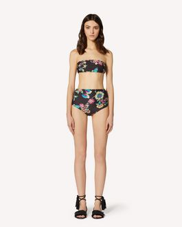 REDValentino Swimsuit with Bird of Paradise in the Forest print