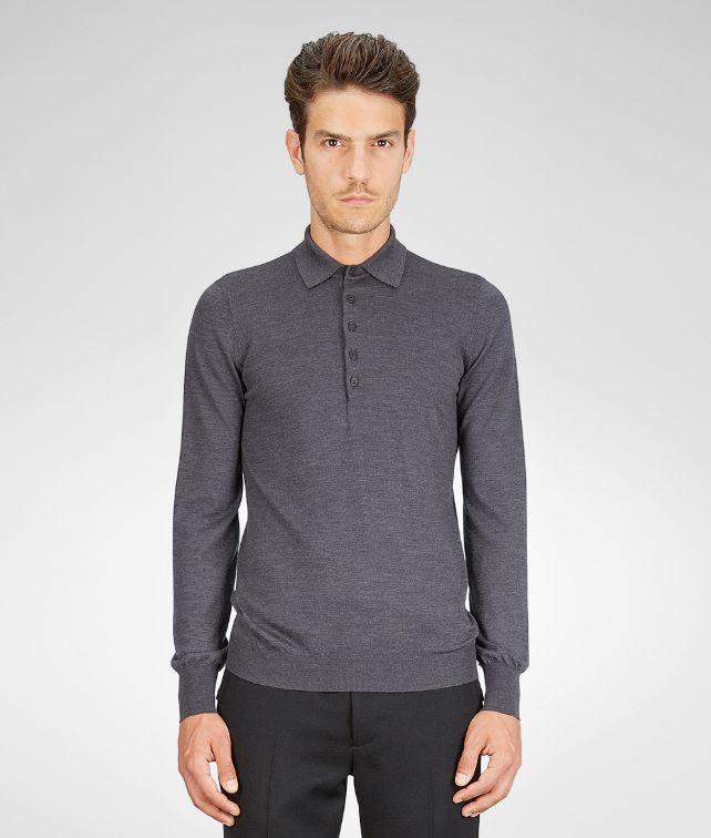BOTTEGA VENETA Pullover aus Merinowolle Melange Anthracite Strickwaren U fp