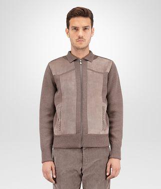 美丽奴羊毛麂皮金属灰束腰外套