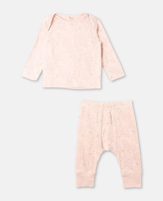 Buster + Macy Pink Print Set