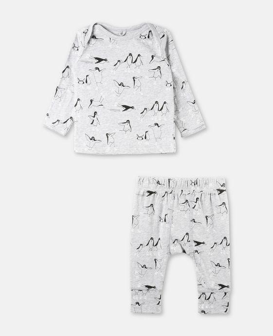 Buster + Macy Gray Print Set