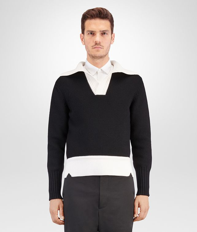 BOTTEGA VENETA NERO WOOL SWEATER Knitwear Man fp