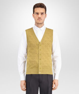 BRONZE WOOL LUREX VEST