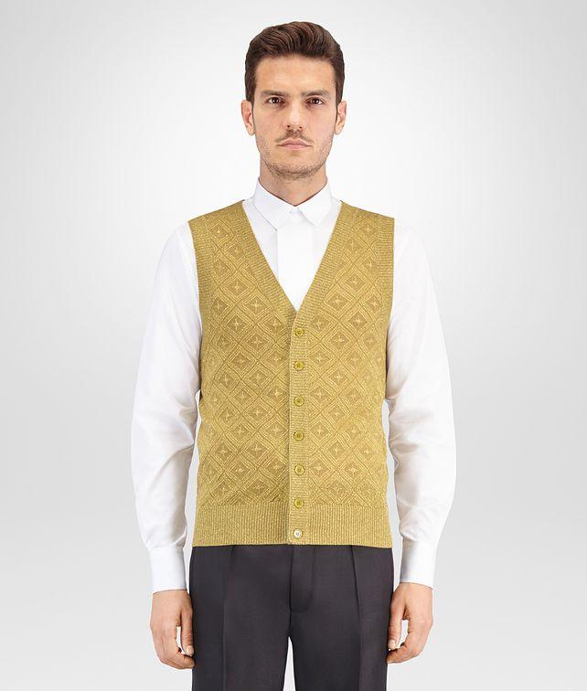 BOTTEGA VENETA BRONZE WOOL LUREX VEST Knitwear Man fp