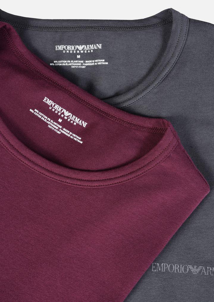 Emporio Shirts En Coton Homme Armani De Lot Stretch T 2 qOxBwp