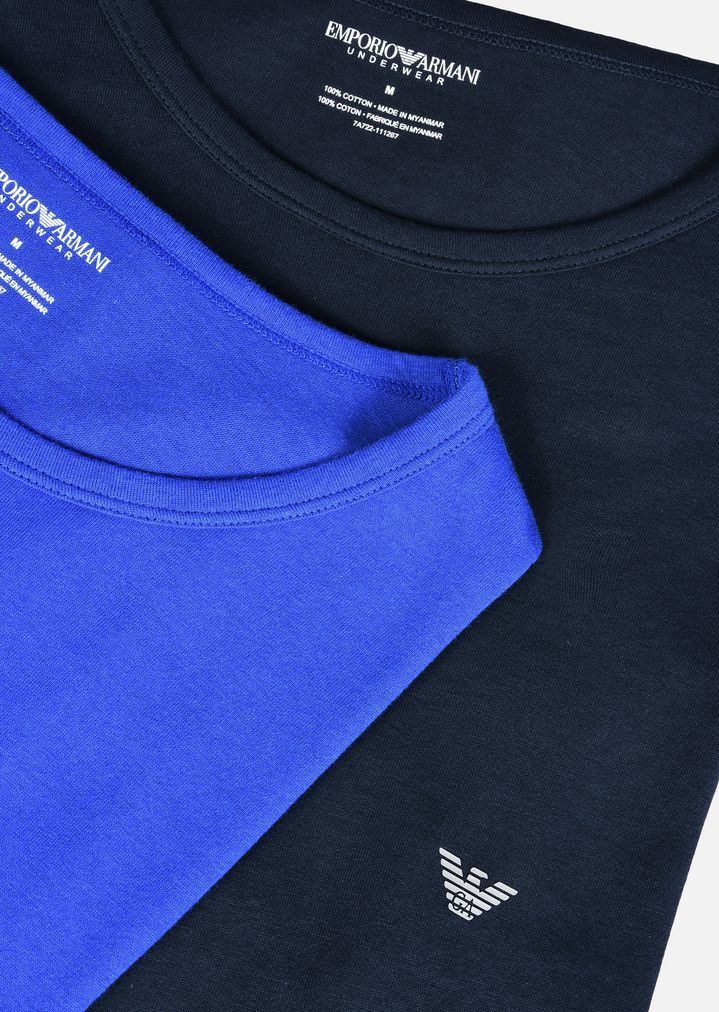 T Shirts Of Pack Armani Emporio Cotton Crew Man Pure 2 In Neck aSIqaC