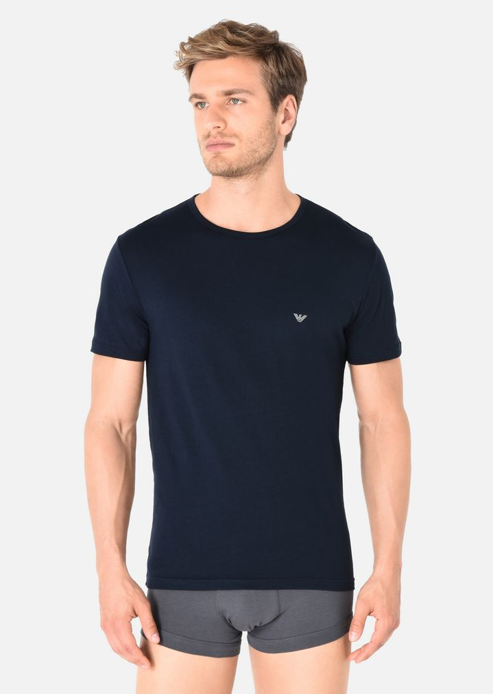 f4a26246 2 PACK OF CREW NECK T-SHIRTS IN PURE COTTON | Man | Emporio Armani