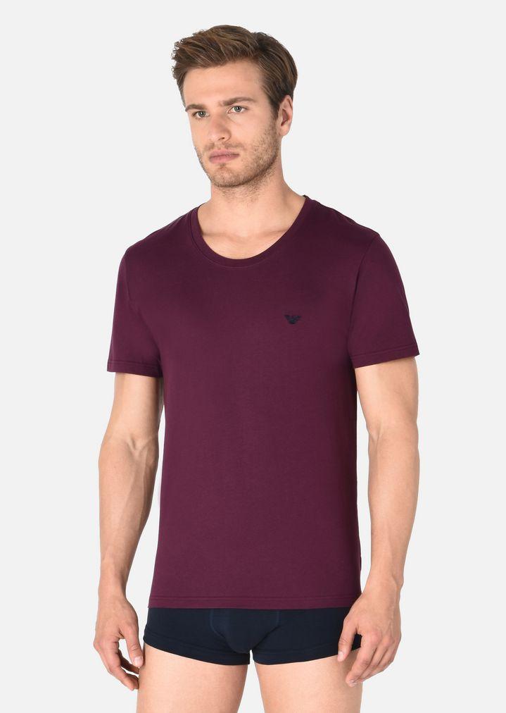 EMPORIO ARMANI COTTON JERSEY CREW NECK T-SHIRT Lounge T-Shirt Man f ...