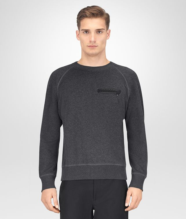 BOTTEGA VENETA ARDOISE COTTON SWEATER Knitwear Man fp