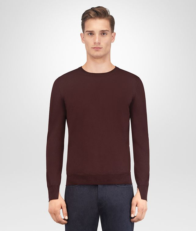 BOTTEGA VENETA DARK BAROLO MERINO SWEATER Knitwear Man fp