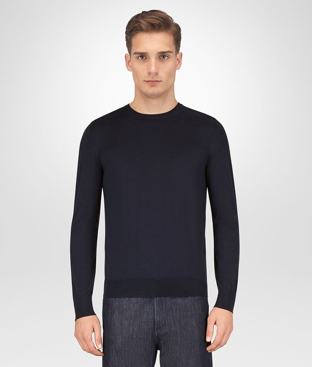 BOTTEGA VENETA DARK NAVY MERINO SWEATER Knitwear [*** pickupInStoreShippingNotGuaranteed_info ***] fp