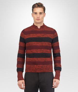 GIGOLO RED COTTON WOOL CASHMERE SWEATER