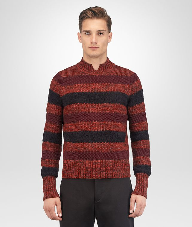 BOTTEGA VENETA GIGOLO RED COTTON WOOL CASHMERE SWEATER Knitwear [*** pickupInStoreShippingNotGuaranteed_info ***] fp