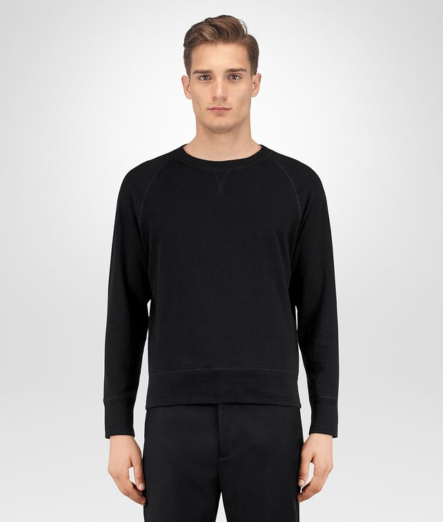BOTTEGA VENETA NERO COTTON SWEATER Knitwear [*** pickupInStoreShippingNotGuaranteed_info ***] fp