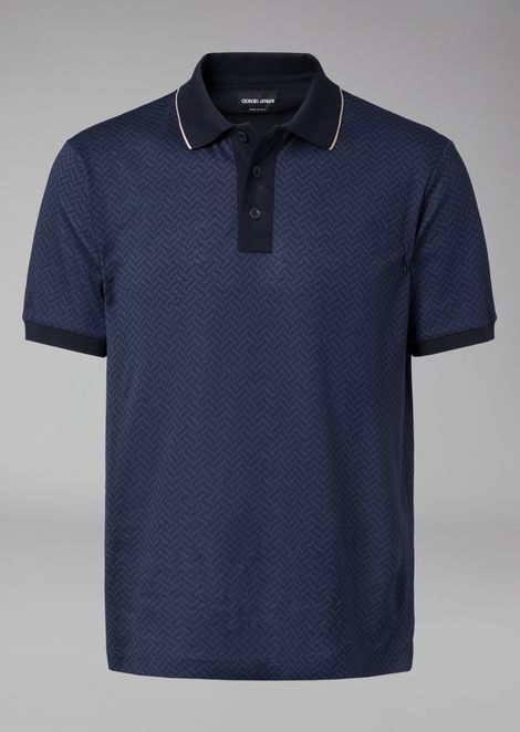 PATTERNED COTTON POLO SHIRT