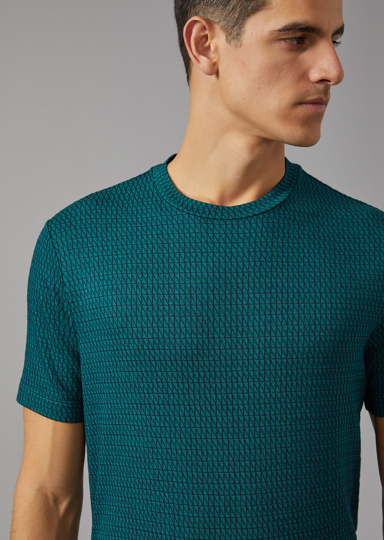optical t shirt for men giorgio armani