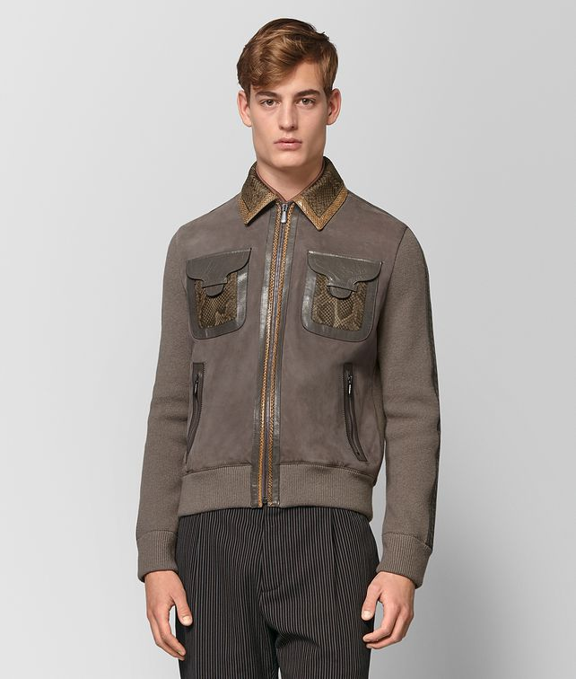BOTTEGA VENETA STEEL SUEDE JACKET Knitwear Man fp