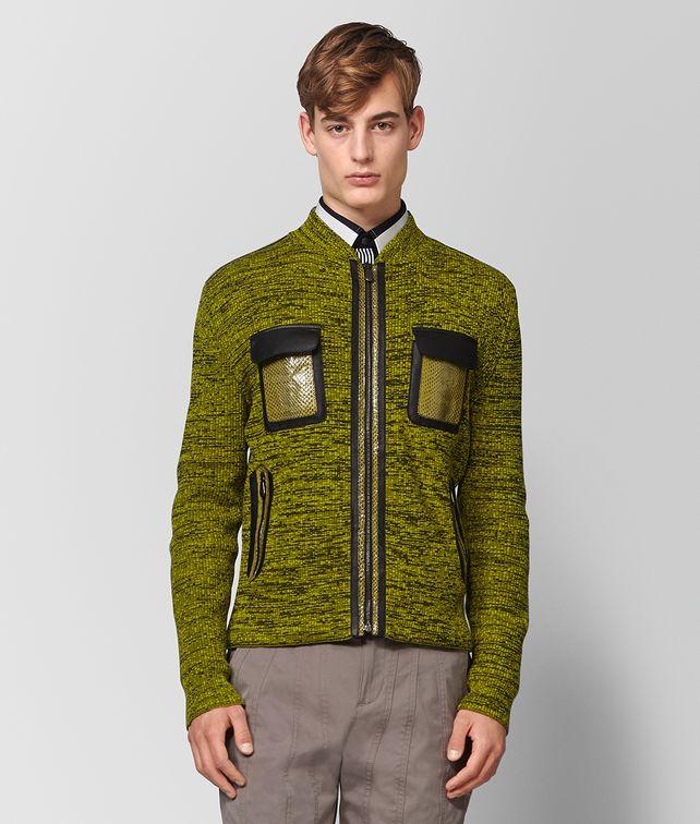 BOTTEGA VENETA CHAMOMILE NERO CASHMERE SWEATER Knitwear Man fp