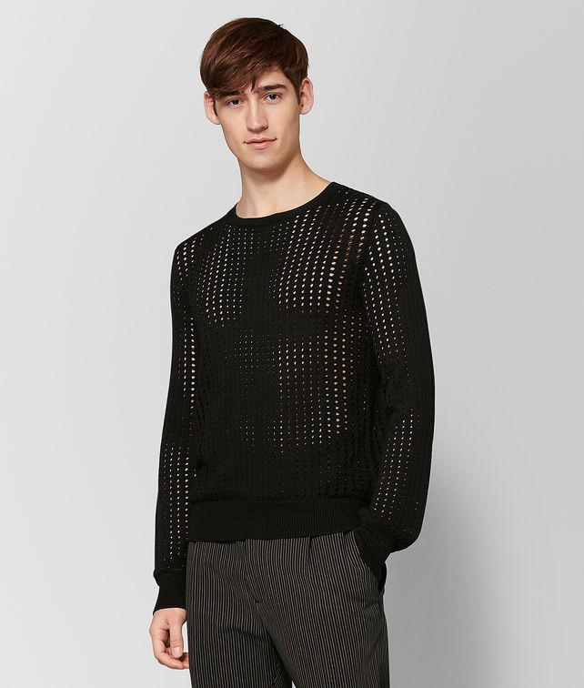 BOTTEGA VENETA NERO SILK SWEATER Knitwear Man fp