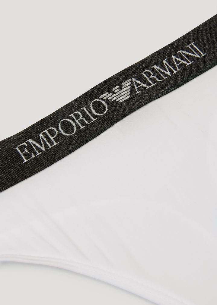 c3efe16f5 Thong with branded waistband   Woman   Emporio Armani